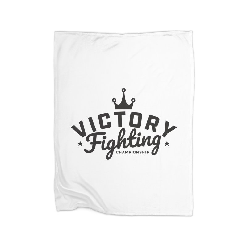Victory Tribute Black Home Fleece Blanket Blanket by Victory Fighting Championship Shop