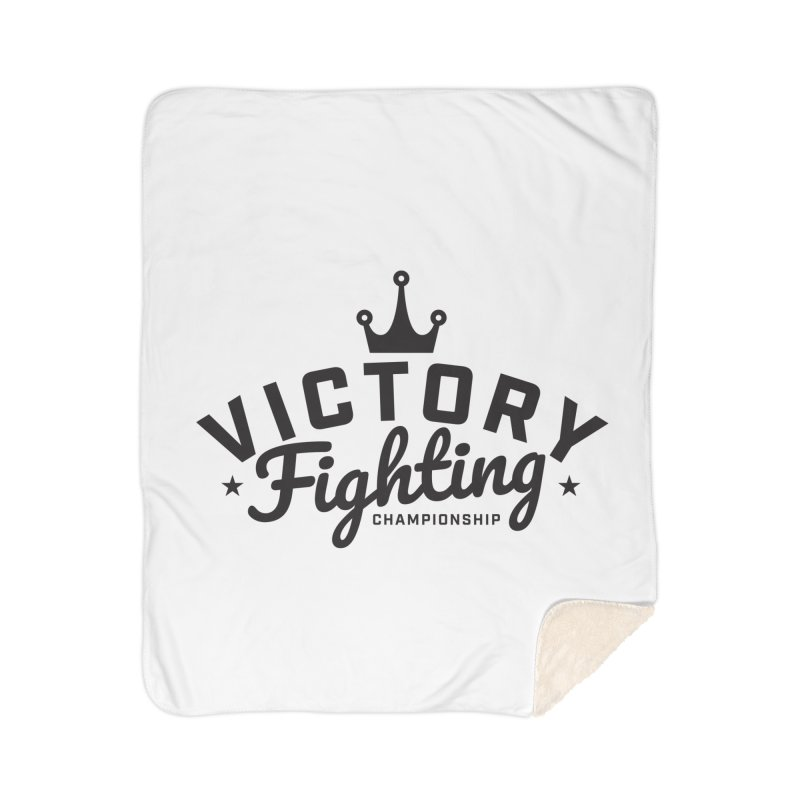 Victory Tribute Black Home Sherpa Blanket Blanket by Victory Fighting Championship Shop