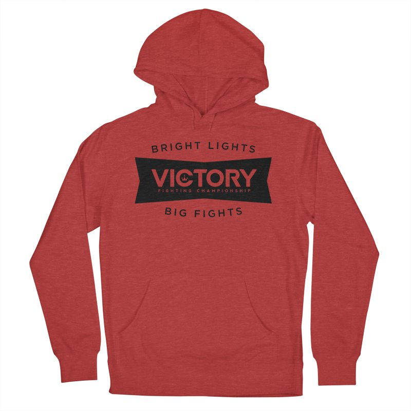 Victory Bowtie Black Men's French Terry Pullover Hoody by Victory Fighting Championship Shop