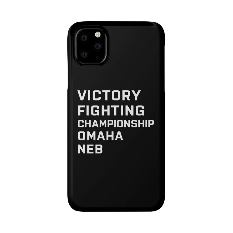 Victory NEB White Accessories Phone Case by Victory Fighting Championship Shop