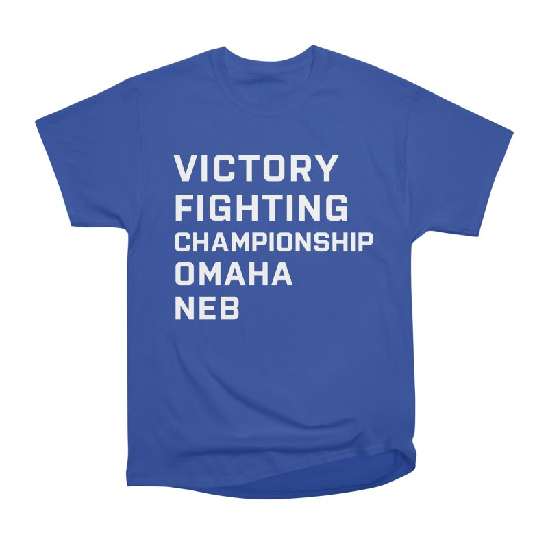 Victory NEB White Men's T-Shirt by Victory Fighting Championship Shop