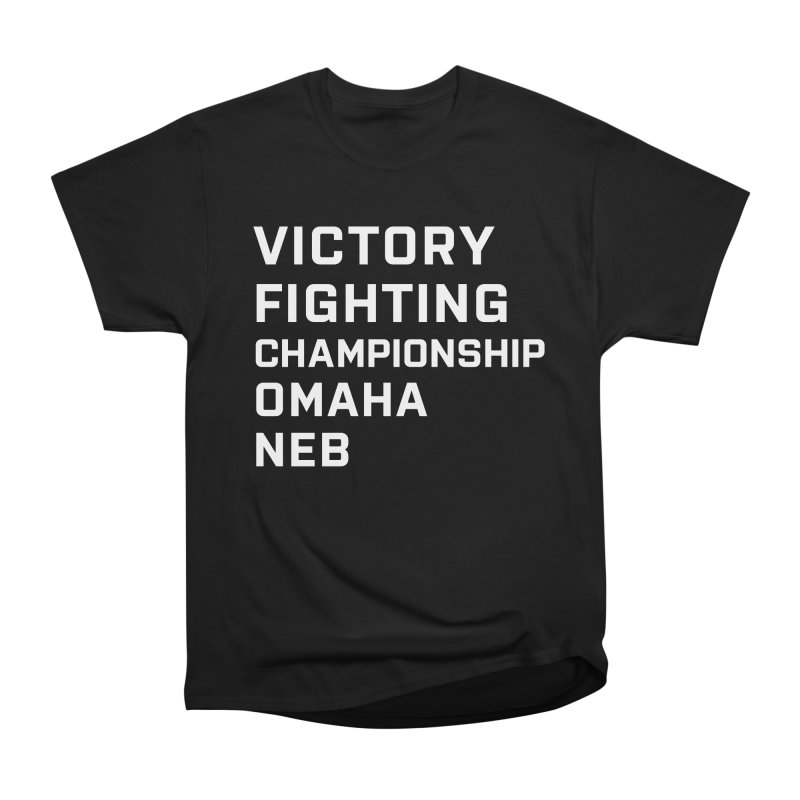 Victory NEB White Women's Heavyweight Unisex T-Shirt by Victory Fighting Championship Shop