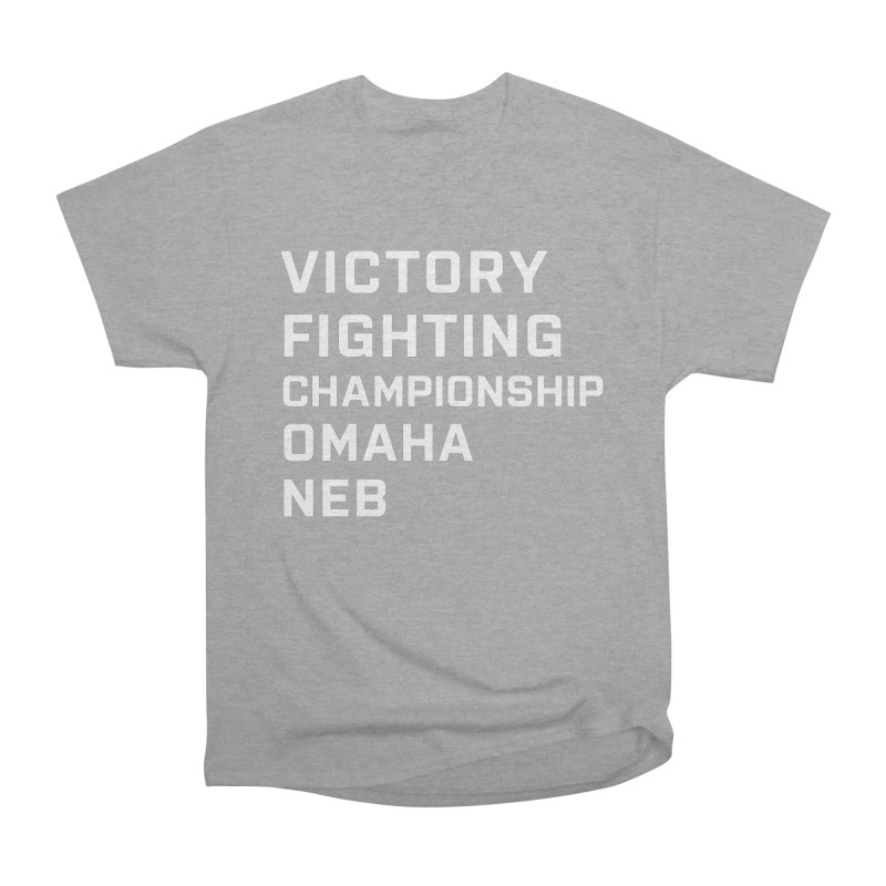Victory NEB White Men's Heavyweight T-Shirt by Victory Fighting Championship Shop