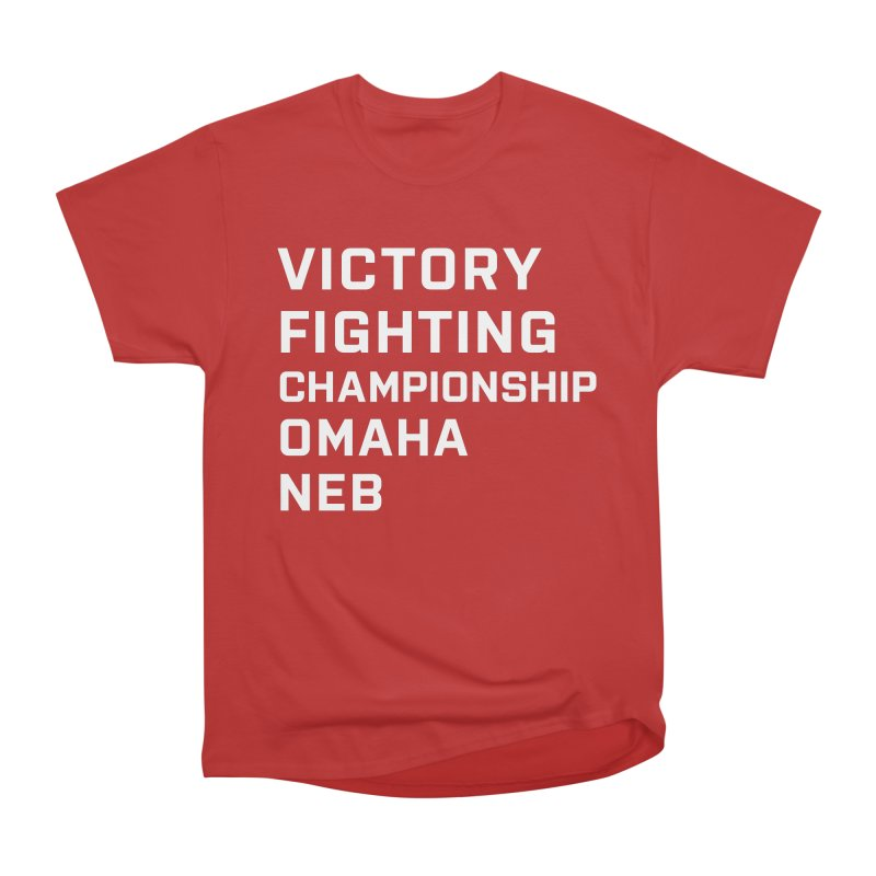 Victory NEB White Women's Heavyweight Unisex T-Shirt by Victory Fighting Championship Shop