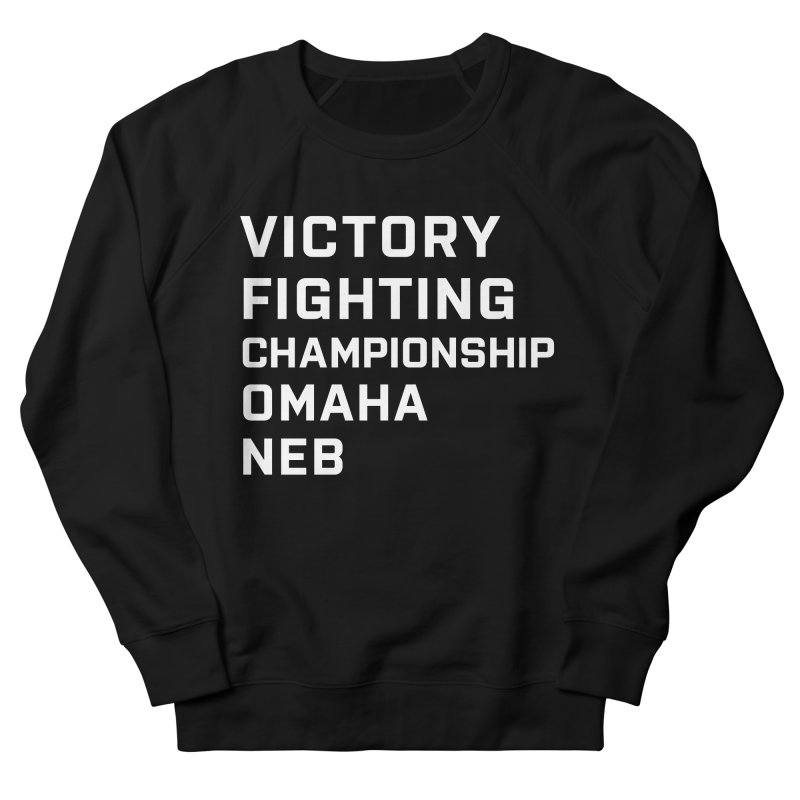 Victory NEB White Men's French Terry Sweatshirt by Victory Fighting Championship Shop