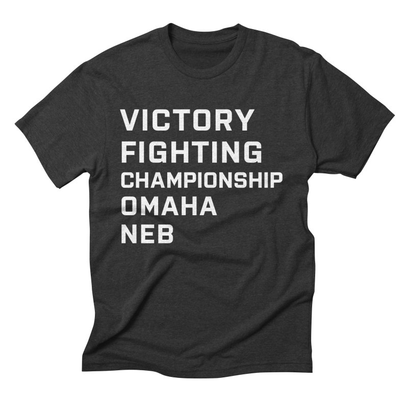 Victory NEB White Men's Triblend T-Shirt by Victory Fighting Championship Shop