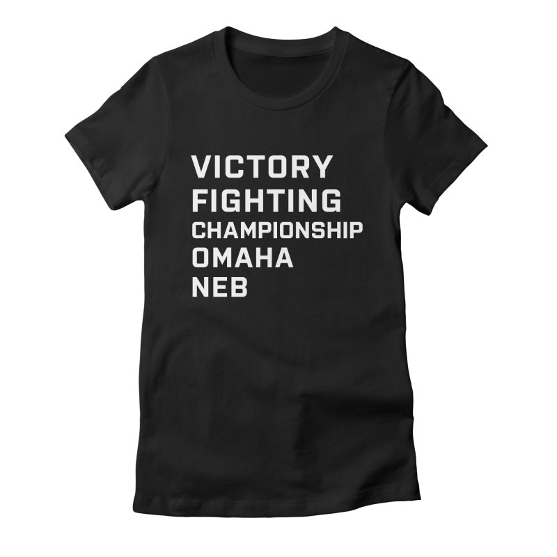 Victory NEB White Women's Fitted T-Shirt by Victory Fighting Championship Shop