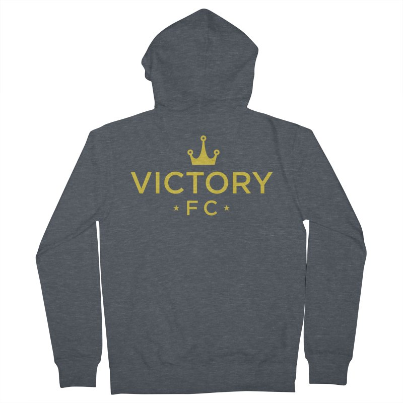 Victory Crowned Men's French Terry Zip-Up Hoody by Victory Fighting Championship Shop