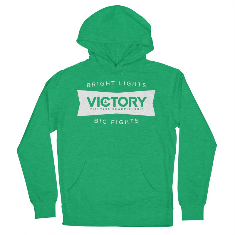 Victory Bowtie White Men's French Terry Pullover Hoody by Victory Fighting Championship Shop
