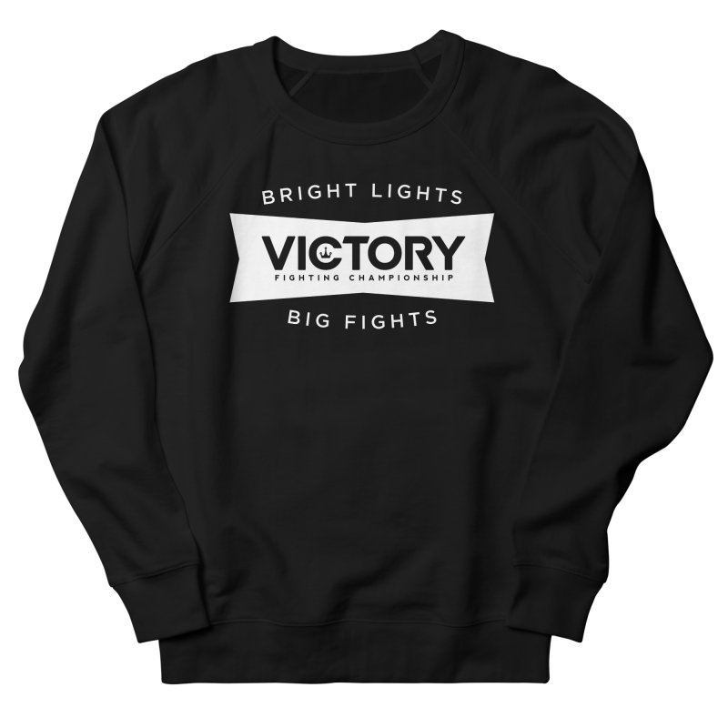 Victory Bowtie White Men's French Terry Sweatshirt by Victory Fighting Championship Shop