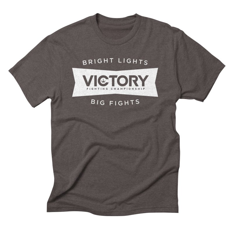 Victory Bowtie White Men's Triblend T-Shirt by Victory Fighting Championship Shop