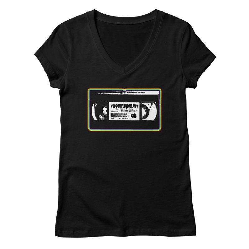 Divine Magnets Bright Women's V-Neck by VideoReligion's Shop