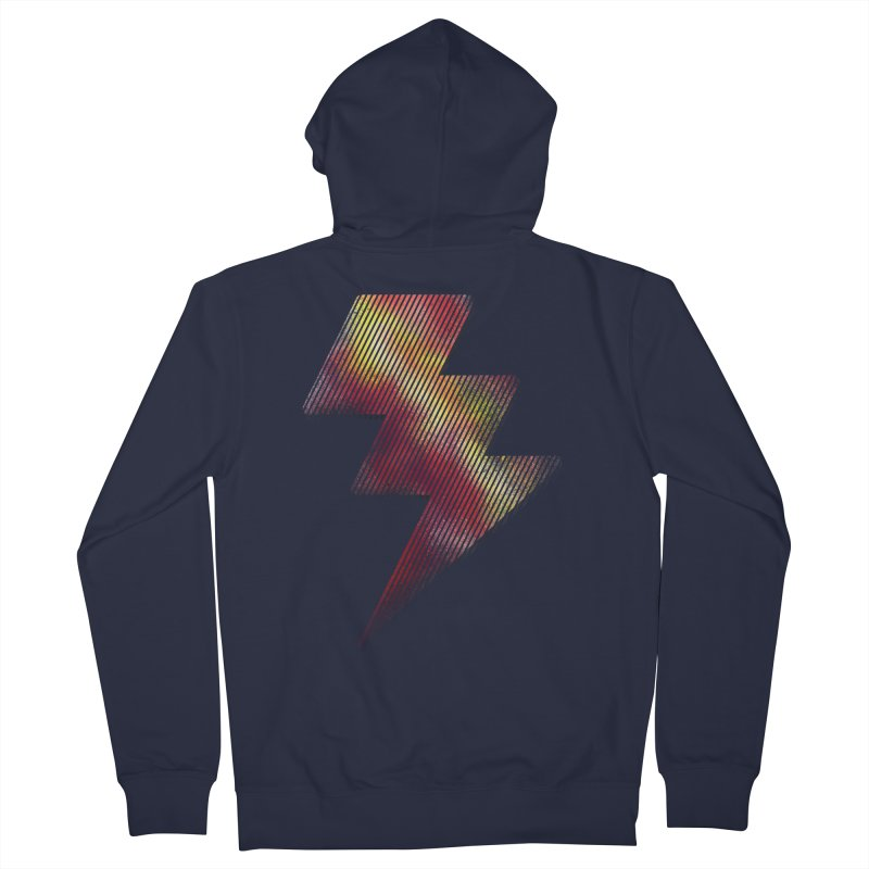 Fire Bolt I Men's Zip-Up Hoody by Vince N2