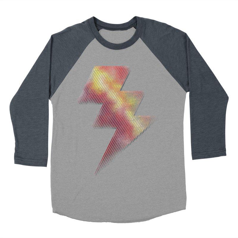 Fire Bolt I Men's Baseball Triblend T-Shirt by Vince N2