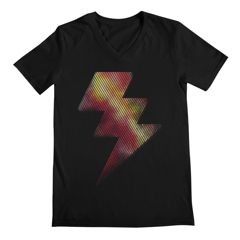 Fire Bolt I Men's V-Neck by Vince N2