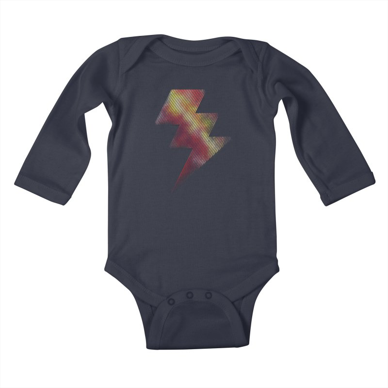 Fire Bolt I Kids Baby Longsleeve Bodysuit by Vince N2