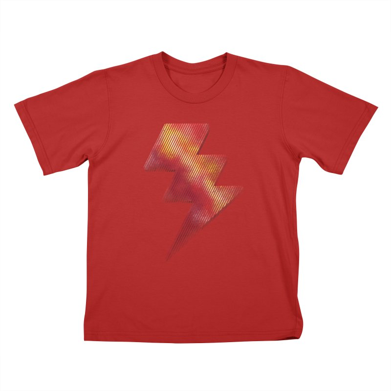 Fire Bolt I Kids T-shirt by Vince N2