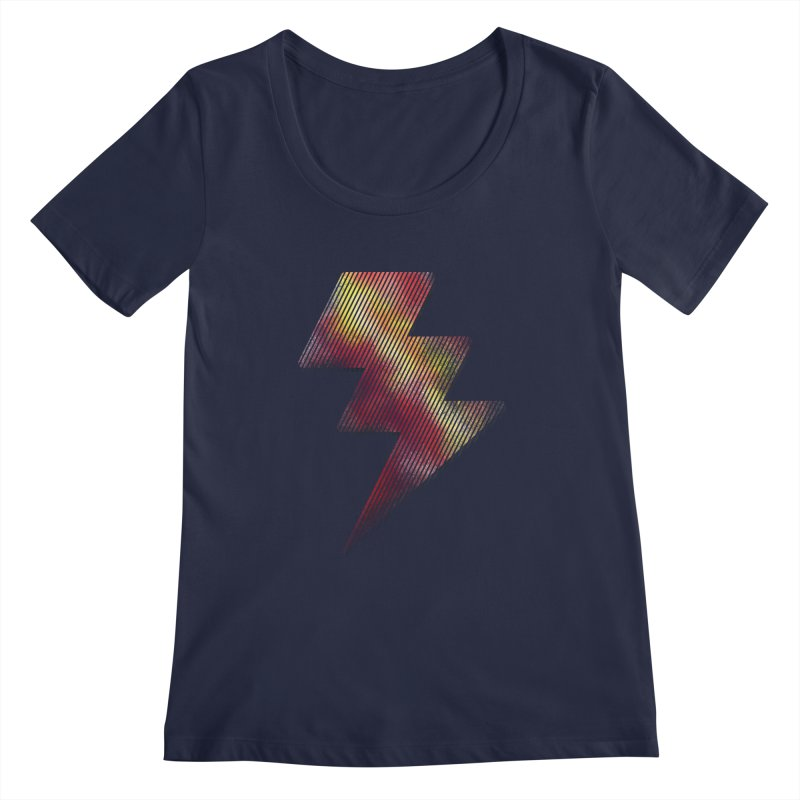Fire Bolt I Women's Scoopneck by Vince N2