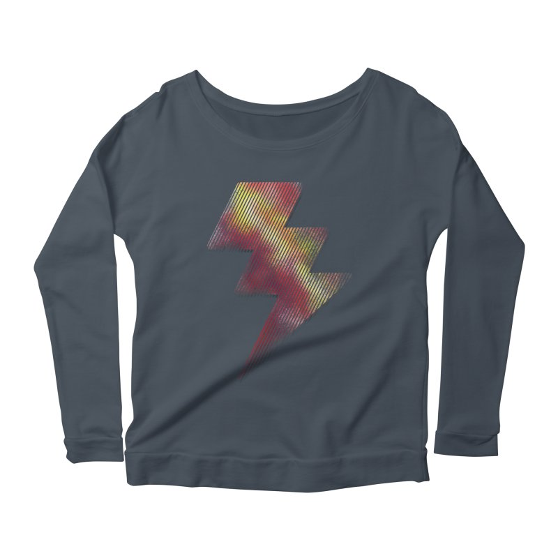 Fire Bolt I Women's Longsleeve Scoopneck  by Vince N2
