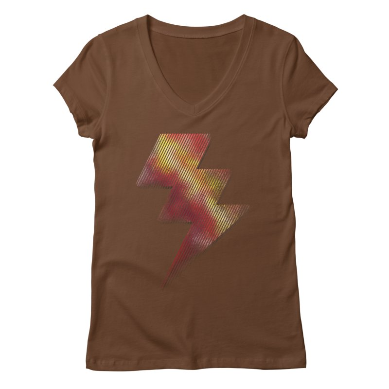 Fire Bolt I Women's V-Neck by Vince N2