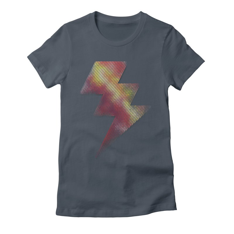 Fire Bolt I Women's Fitted T-Shirt by Vince N2