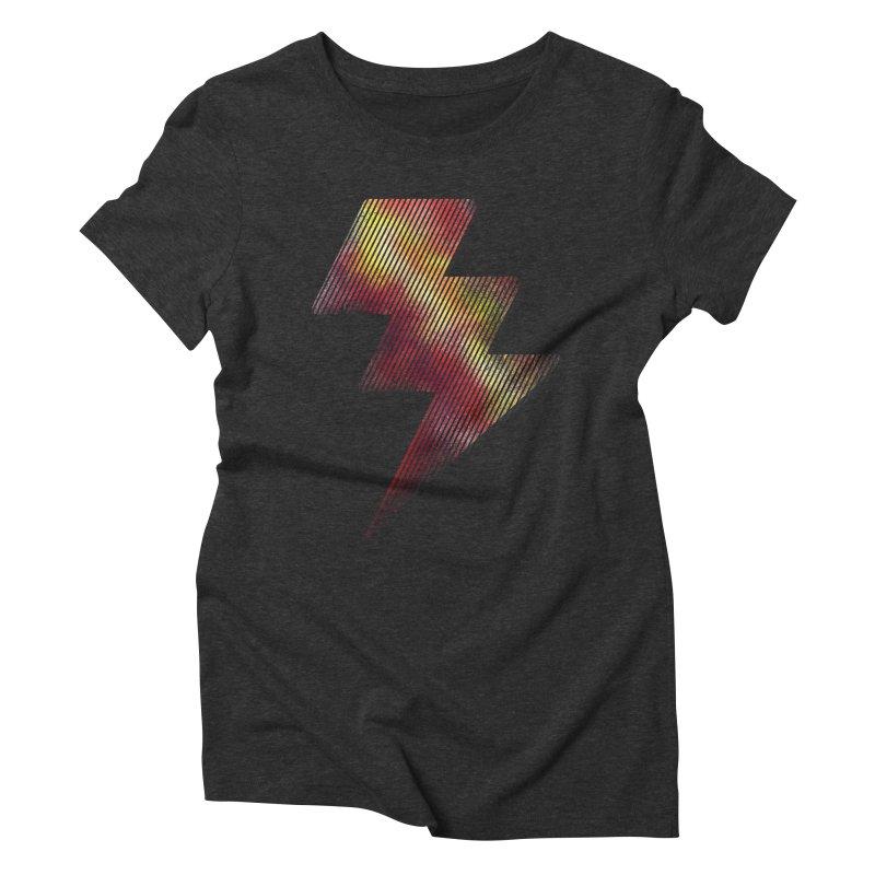 Fire Bolt I Women's Triblend T-Shirt by Vince N2