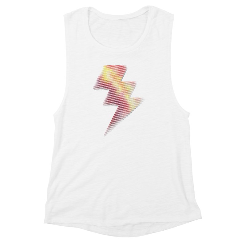 Fire Bolt I Women's Muscle Tank by Vince N2