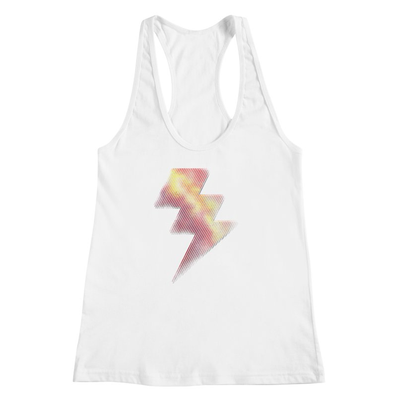 Fire Bolt I Women's Racerback Tank by Vince N2