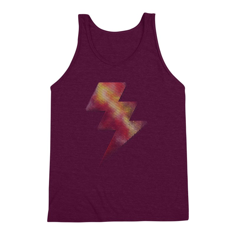 Fire Bolt I Men's Triblend Tank by Vince N2