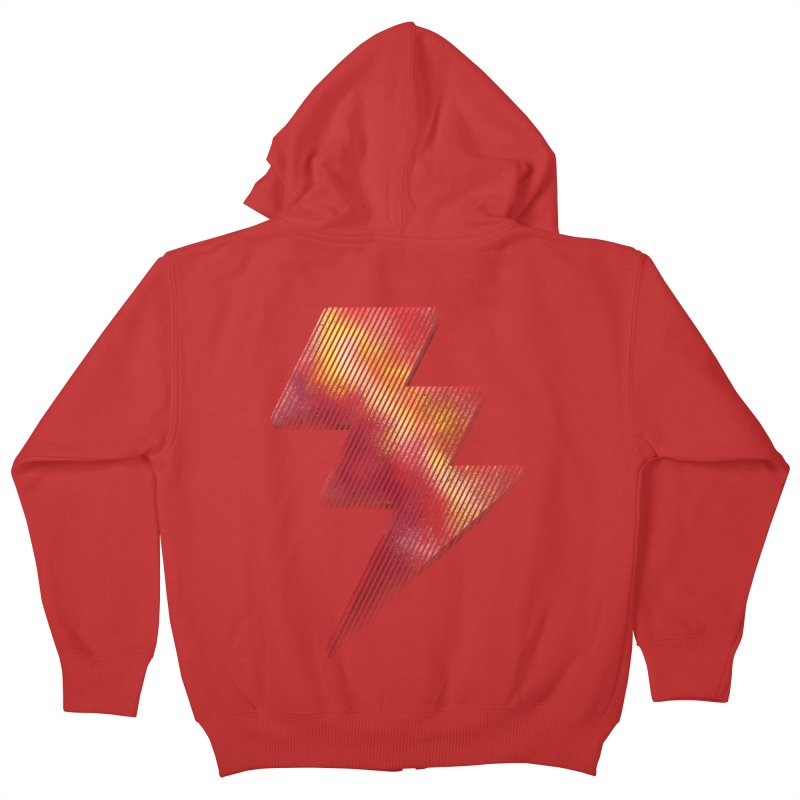 Fire Bolt I Kids Zip-Up Hoody by Vince N2