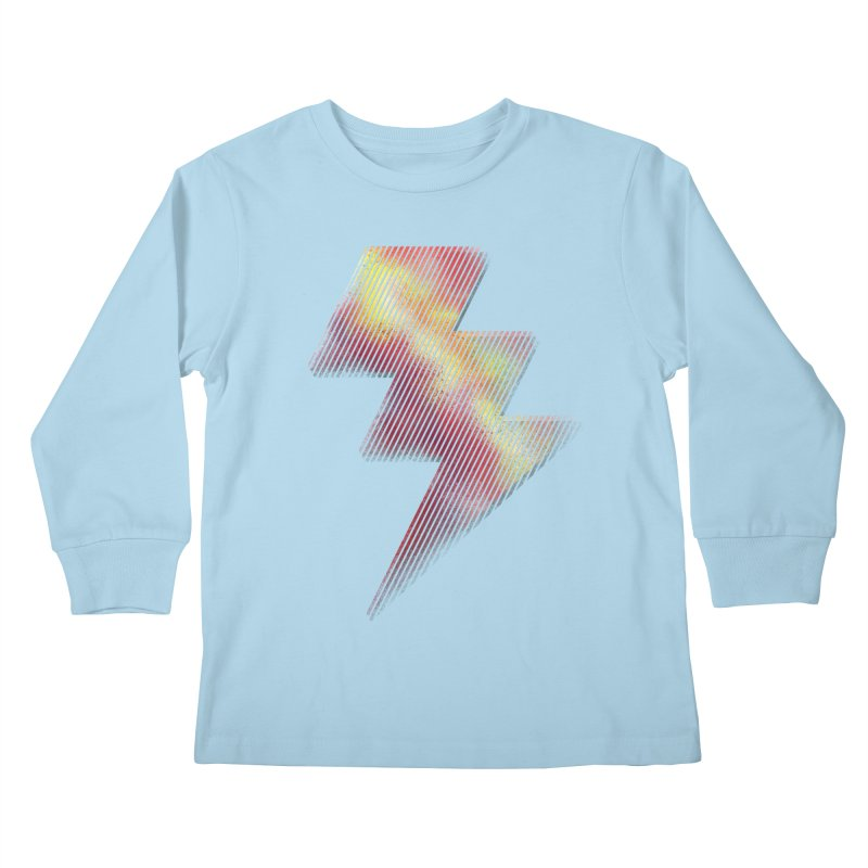 Fire Bolt I Kids Longsleeve T-Shirt by Vince N2