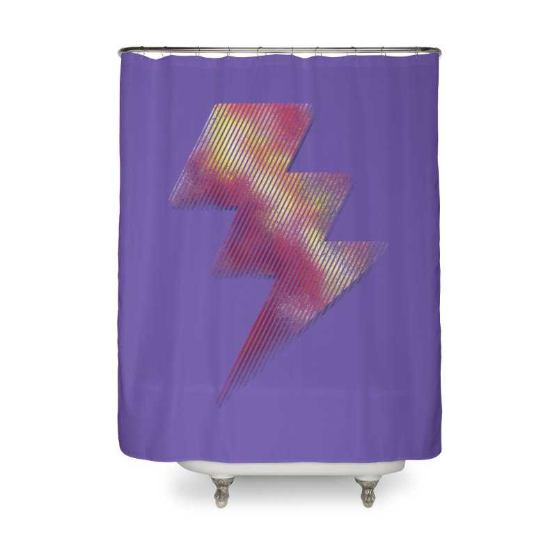 Fire Bolt I Home Shower Curtain by Vince N2