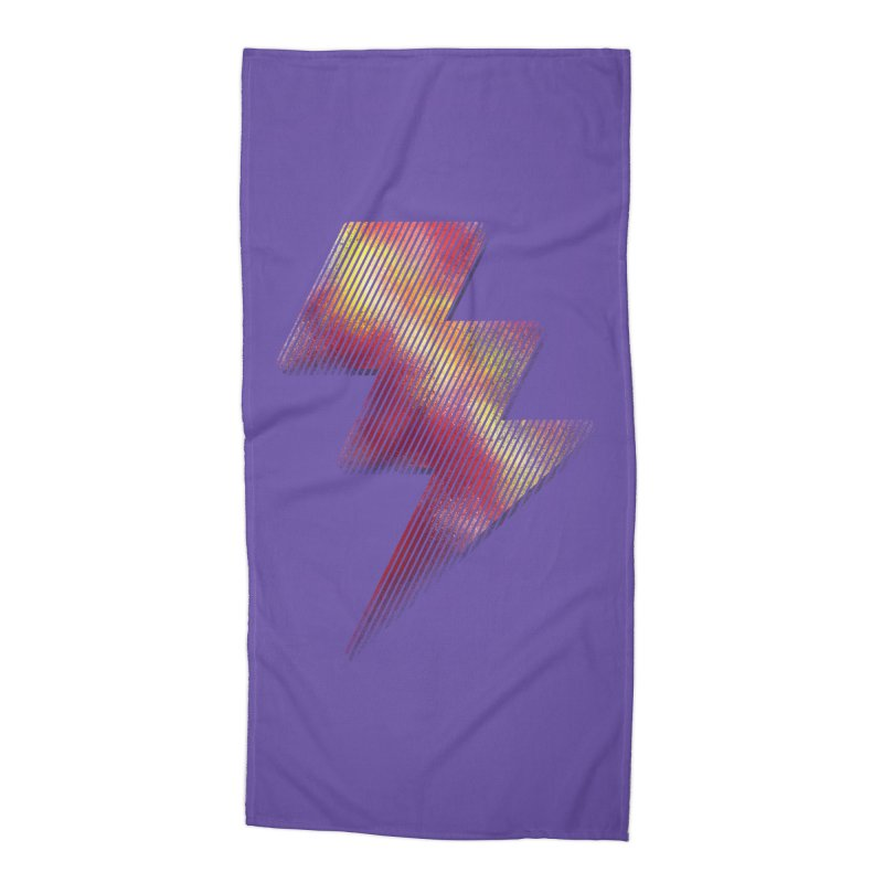 Fire Bolt I Accessories Beach Towel by Vince N2