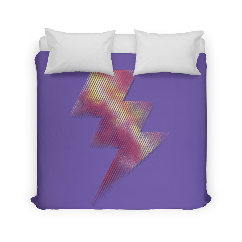 Fire Bolt I Home Duvet by Vince N2