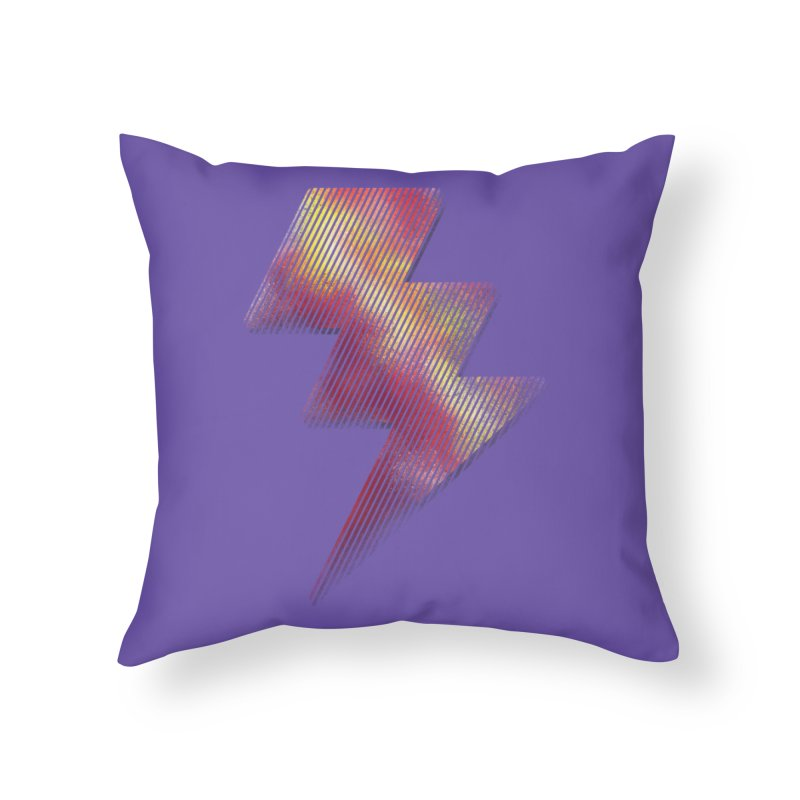 Fire Bolt I Home Throw Pillow by Vince N2