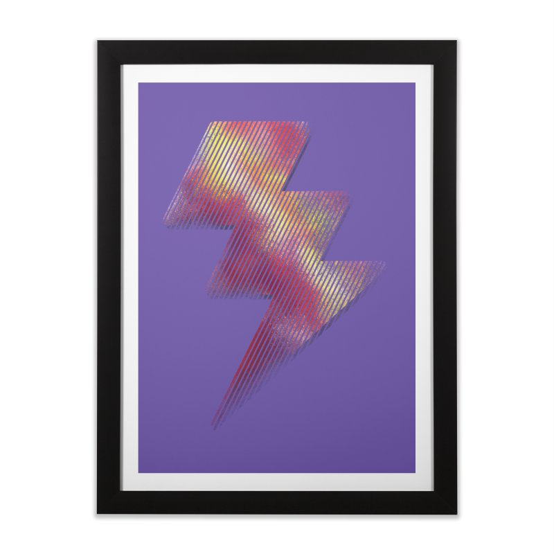 Fire Bolt I Home Framed Fine Art Print by Vince N2