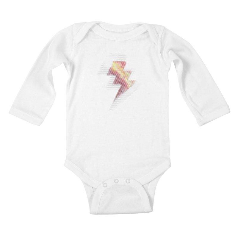 Fire Bolt II Kids Baby Longsleeve Bodysuit by Vince N2