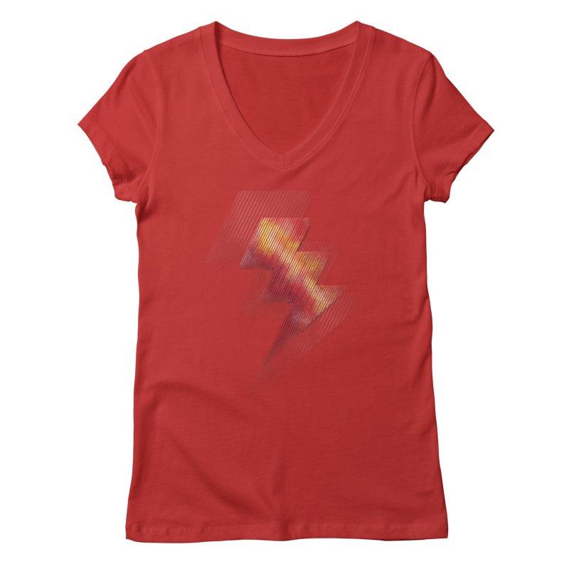 Fire Bolt II Women's V-Neck by Vince N2