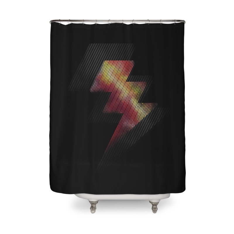 Fire Bolt II Home Shower Curtain by Vince N2