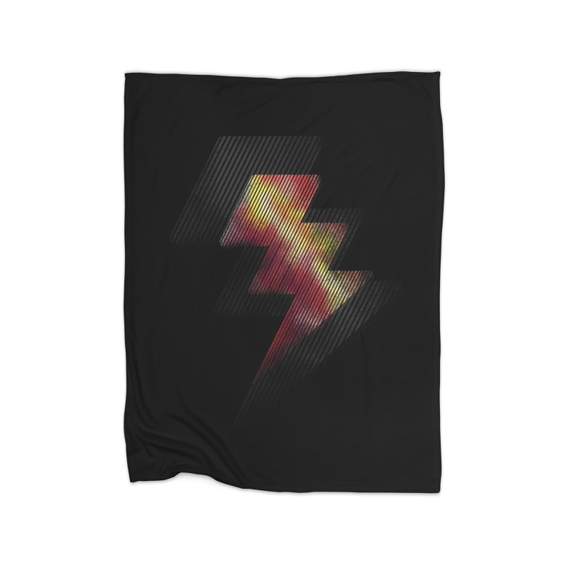 Fire Bolt II Home Blanket by Vince N2