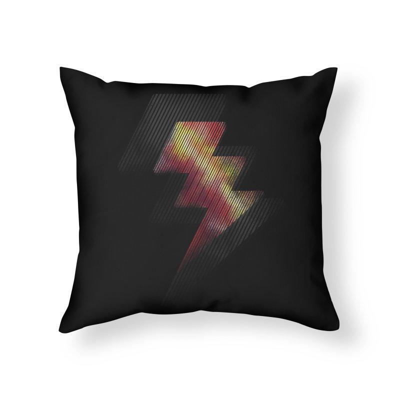 Fire Bolt II Home Throw Pillow by Vince N2