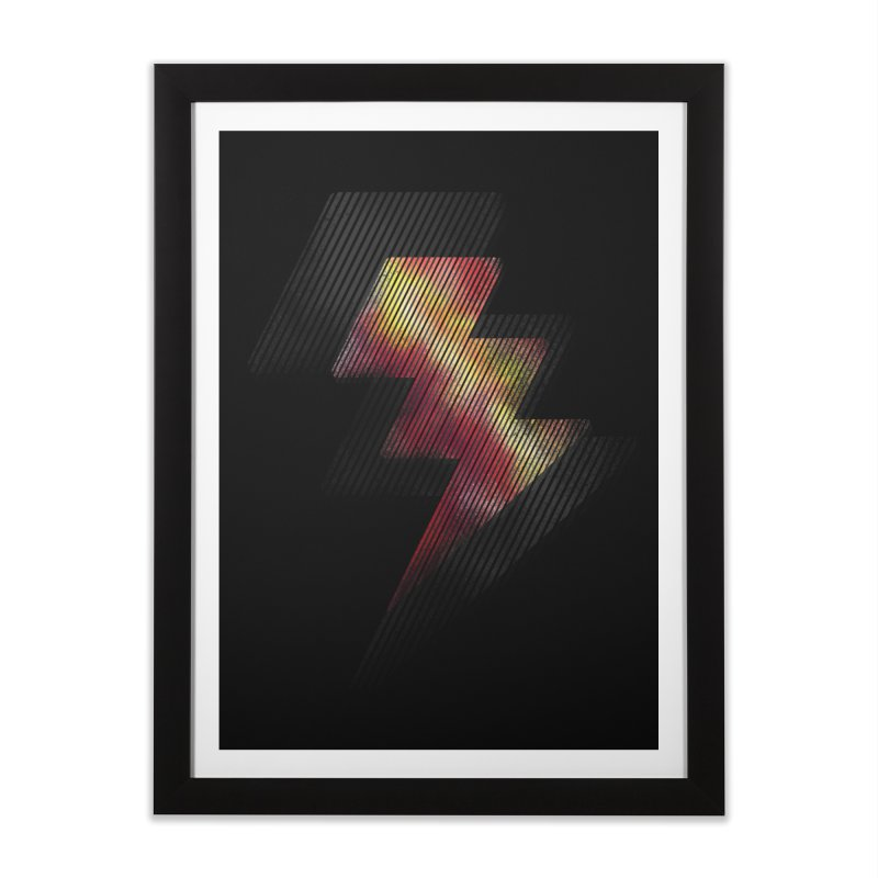 Fire Bolt II Home Framed Fine Art Print by Vince N2