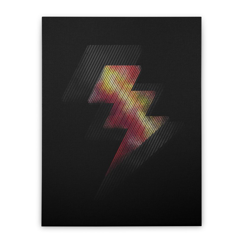 Fire Bolt II Home Stretched Canvas by Vince N2