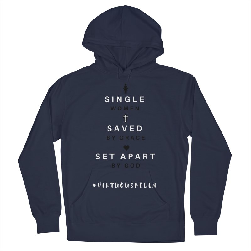 Single | Saved | Set Apart (Black &White) Women's French Terry Pullover Hoody by Living Virtuous Boutique
