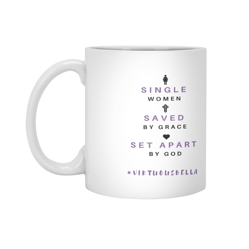 Single | Saved | Set Apart (Purple and Black) Accessories Mug by Living Virtuous Boutique