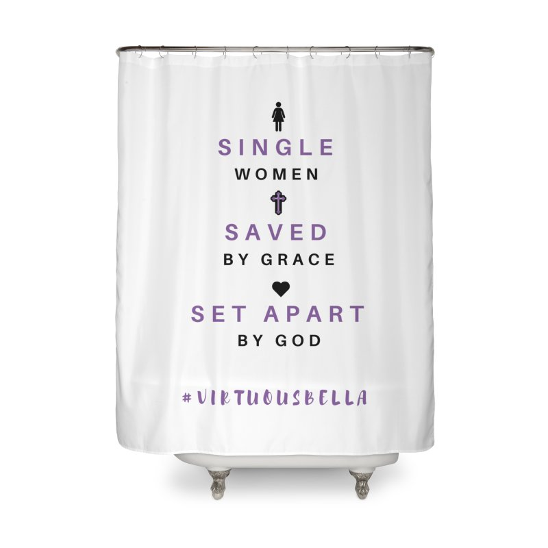 Single | Saved | Set Apart (Purple and Black) Home Shower Curtain by Living Virtuous Boutique