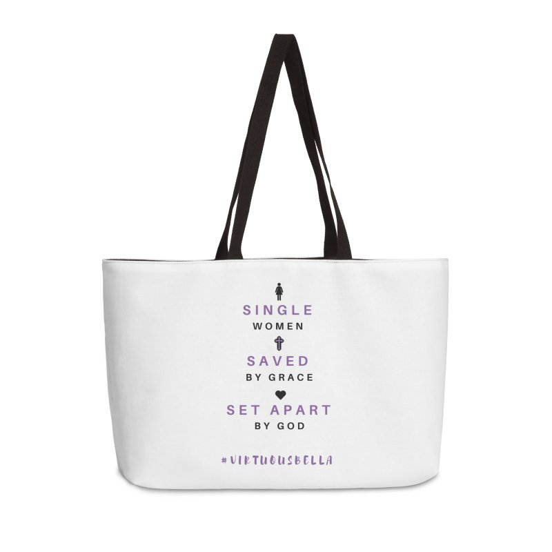 Single | Saved | Set Apart (Purple and Black) Accessories Weekender Bag Bag by Living Virtuous Boutique
