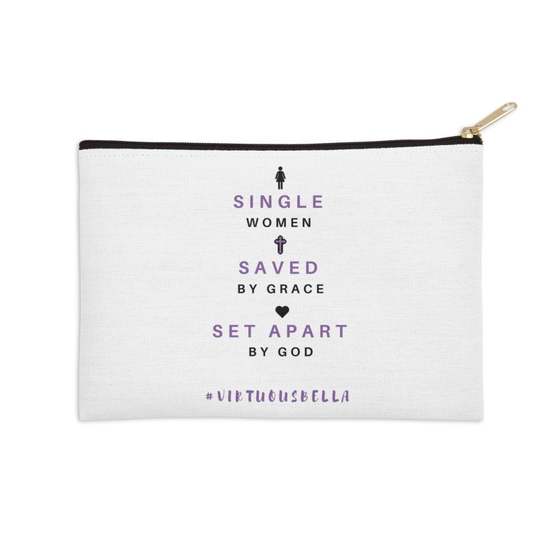 Single | Saved | Set Apart (Purple and Black) Accessories Zip Pouch by Living Virtuous Boutique