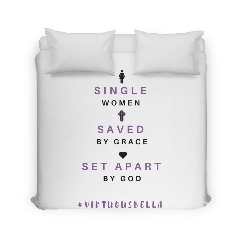 Single | Saved | Set Apart (Purple and Black) Home Duvet by Living Virtuous Boutique