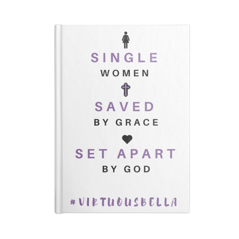 Single | Saved | Set Apart (Purple and Black) Accessories Lined Journal Notebook by Virtuousbella Boutique
